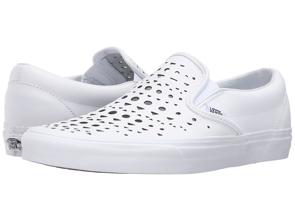 Vans - Classic Slip-On ((Cut Out Geo) True White) Skate Shoes