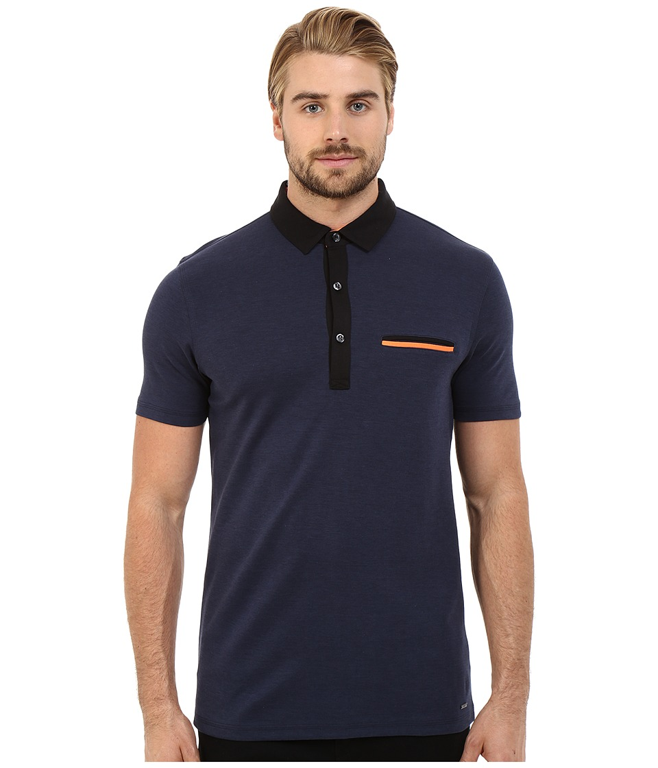 HUGO Dexas Contrast Polo Navy Mens Clothing