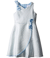 Us Angels - Brocade Sleeveless Dress w/ Satin Ribbon Trim (Toddler/Little Kids)