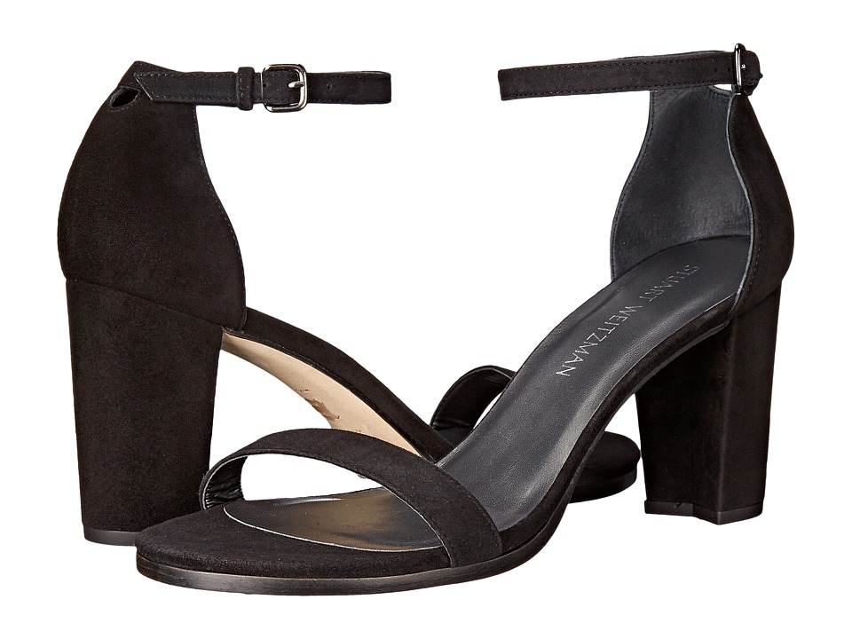 Stuart Weitzman Nearlynude (Black Suede) Women's Shoes
