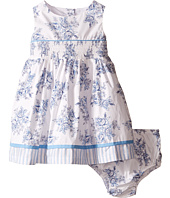 Us Angels - Cotton Poplin Tank Dress w/ Smock Waist & Full Skirt (Infant)