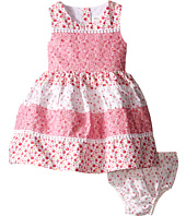 Us Angels - Cotton Poplin & Lace Sleeveless Sundress w/ Full Skirt (Infant)