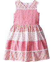 Us Angels - Cotton Poplin & Lace Sleeveless Sundress w/ Full Skirt (Toddler/Little Kids)