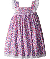 Us Angels - Cotton Poplin & Eyelet Empire Smock Bodice Dress (Toddler/Little Kids)