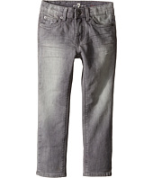 7 For All Mankind Kids - The Slimmy Slim Straight Five-Pocket Stretch Denim Jeans in Cloudy (Little Kids/Big Kids)