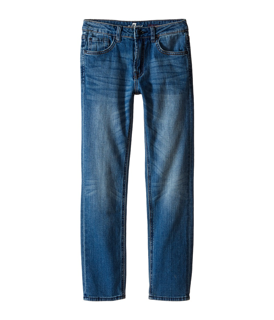 7 For All Mankind Kids The Slimmy Slim Straight Five Pocket Stretch Denim Jeans in Airblue Big Kids Airblue Boys Jeans