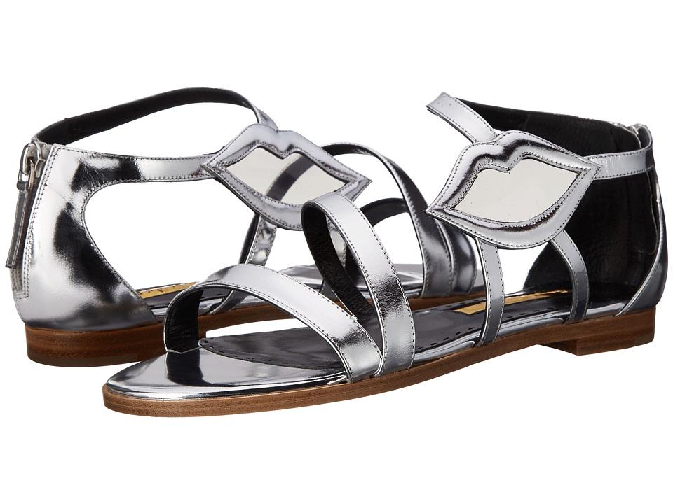 Rupert Sanderson Pukatea Silver Calf/PVC Womens Shoes