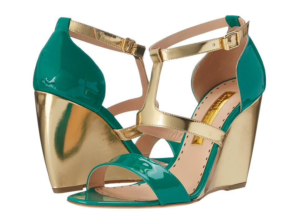 Rupert Sanderson Sindy Green Patent Calf Womens Shoes