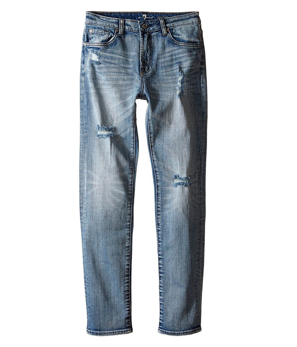 7 For All Mankind Kids The Paxtyn Skinniest Tapered Five Pocket Stretch Denim Jeans in Ojai Blue Big Kids Ojai Blue Boys Jeans