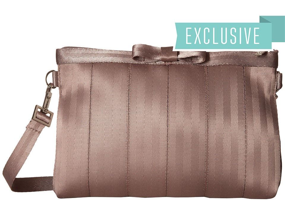 Harveys Seatbelt Bag Bow Clutch Taupe Clutch Handbags