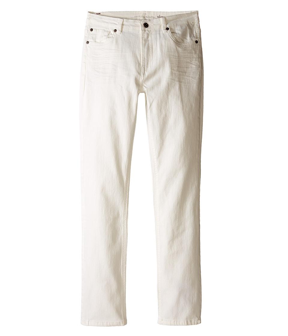 7 For All Mankind Kids The Slimmy Slim Straight Five Pocket Denim Jeans in Ecru Big Kids Ecru Boys Jeans