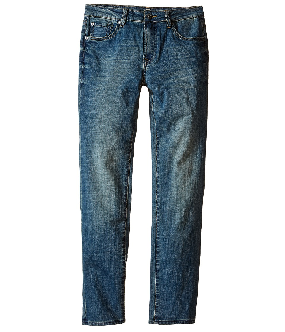 7 For All Mankind Kids The Slimmy Slim Straight Five Pocket Denim Jeans in Barbados Blue Big Kids Barbados Blue Boys Jeans