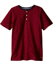 7 For All Mankind Kids - Short Sleeve Slub Jersey Henley T-Shirt (Big Kids)