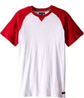 7 For All Mankind Kids - Short Sleeve Crew Neck Slub Jersey Baseball T-Shirt (Big Kids)