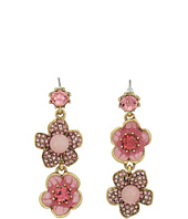 Betsey Johnson - Memoirs of Betsey Flower Non-Matching Earrings