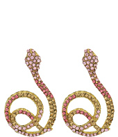 Betsey Johnson - Luminous Betsey Snake Drop Earrings