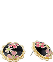 Betsey Johnson - Memoirs of Betsey Floral Button Stud Earrings