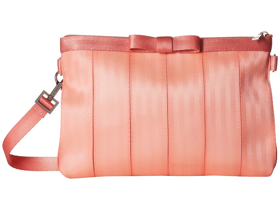 Harveys Seatbelt Bag Bow Clutch Coral Clutch Handbags