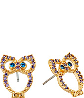 Betsey Johnson - Owl CZ Stud Earrings