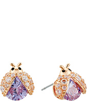 Betsey Johnson - Purple Lady Bug CZ Stud Earrings