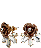 Betsey Johnson - Luminous Betsey Rose Front/Back Earrings