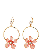 Betsey Johnson - Luminous Betsey Rose Gypsy Hoop Earrings