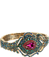 Betsey Johnson - Boho Betsey Peacock Feather Hinged Bangle