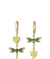 Betsey Johnson - Dragonfly CZ Non-Matching Earrings
