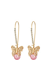 Betsey Johnson - Butterfly CZ Drop Earrings