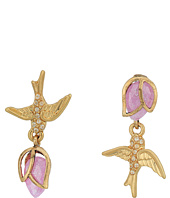 Betsey Johnson - Bird Non-Matching CZ Stud Earrings