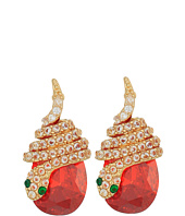 Betsey Johnson - Snake Wrap CZ Stud Earrings