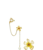 Betsey Johnson - Luminous Betsey Flower Ear Cuff Set