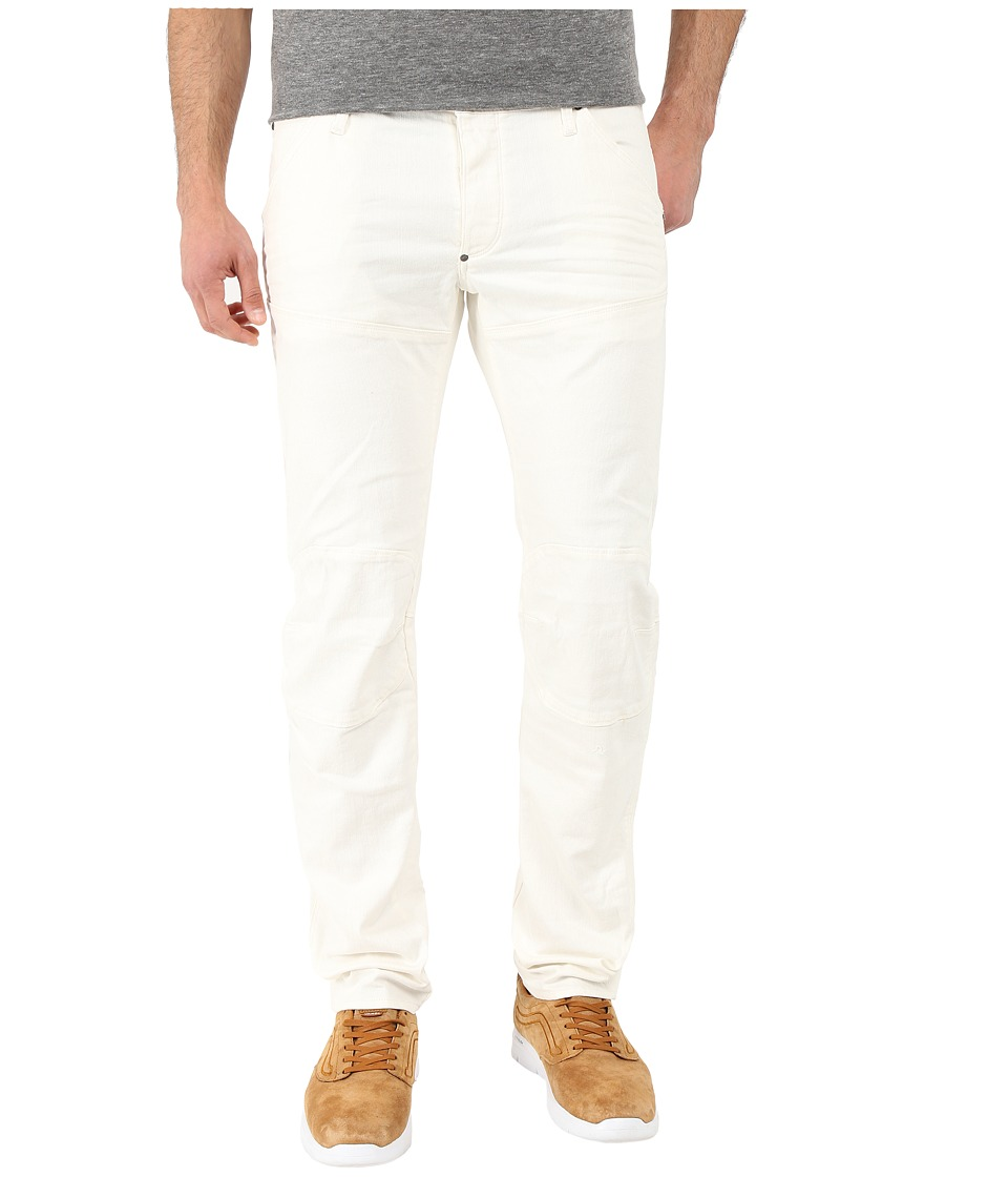 G Star 5620 3D Low Tapered Bike Denim in Inza White Superstretch 3D Aged Inza White Superstretch 3D Aged Mens Jeans