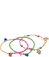 Betsey Johnson - Boho Betsey Charm Stretch Bracelet Set