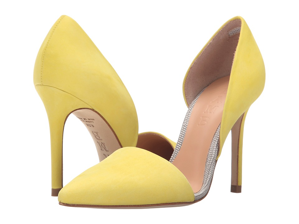L.A.M.B. Gaspar Yellow High Heels