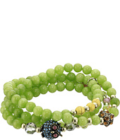 Betsey Johnson - Green Power Bead Owl Bracelet