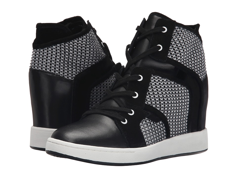 L.A.M.B. Gera Black Womens Wedge Shoes