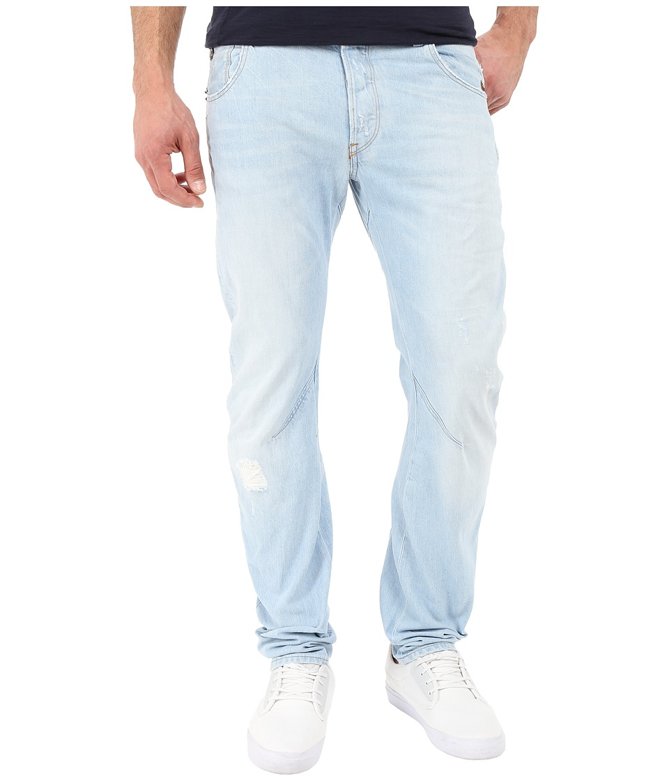 G Star Arc Zip 3D Slim Fit Jeans in Glover Denim Light Aged Restored 67 Glover Denim Light Aged Restored 67 Mens Jeans