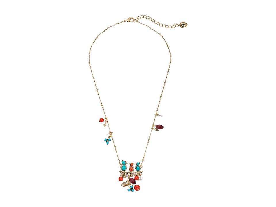 Betsey Johnson Multi Bird Pendant Necklace Turquoise Necklace