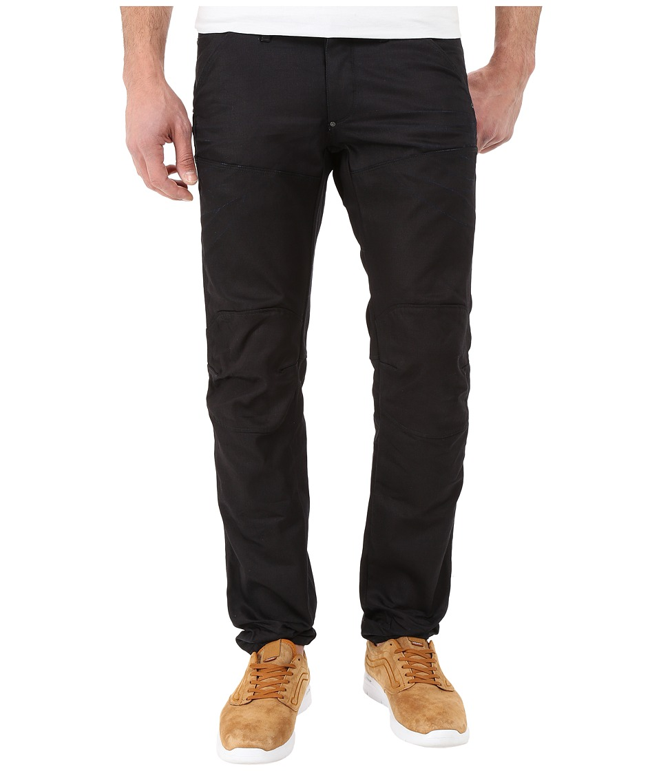 G Star 5620 3D Tapered Biker Denim in Black Format 3D Aged Black Format 3D Aged Mens Jeans