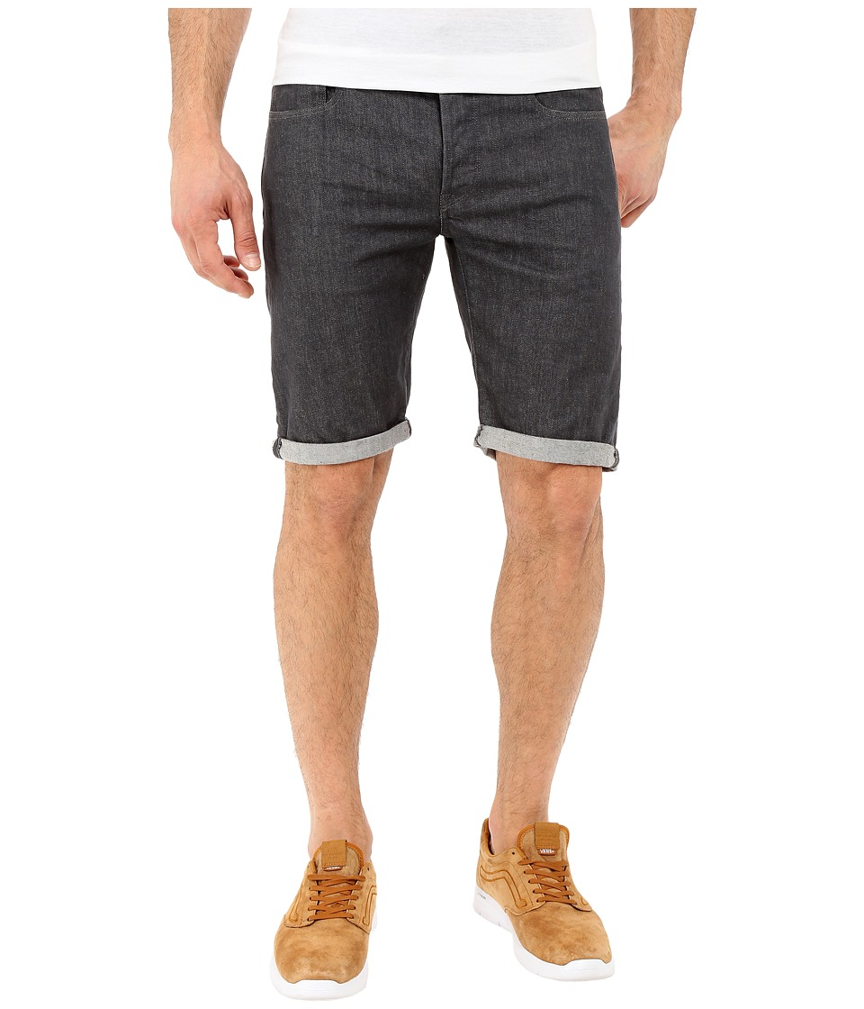 G Star 3301 Deconstructed Shorts in Accel Grey Stretch Denim Rinsed Accel Grey Stretch Denim Rinsed Mens Shorts