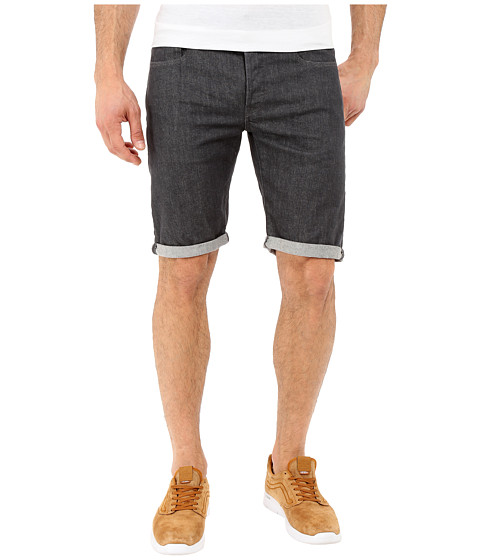 G-Star 3301 Deconstructed Shorts in Accel Grey Stretch Denim Rinsed