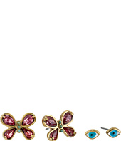 Betsey Johnson - Boho Betsey Eye/Butterly Earrings Set