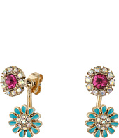 Betsey Johnson - Boho Betsey Flower Front/Back Earrings