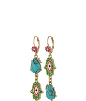 Betsey Johnson - Boho Betsey Turquoise Non-Matching Earrings