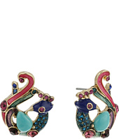 Betsey Johnson - Boho Betsey Peacock Stud Earrings
