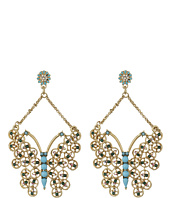 Betsey Johnson - Boho Betsey Butterfly Drop Earrings