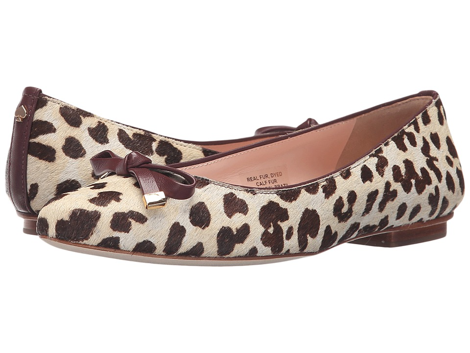 Kate Spade New York Emma (Blush/Brown Leopard Haircalf Print/Red Chestnut Nappa) Women