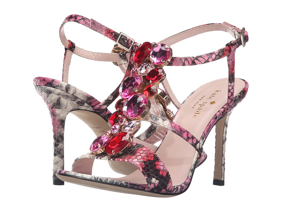 Kate Spade New York Imias (Multi Pink Daisy Snake Printed Leather) Women