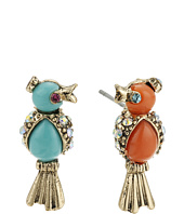 Betsey Johnson - Non-Matching Color Bird Stud Earrings